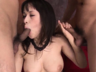 Trio advanced be expeditious for prexy Asian piece of baggage Kyouko Maki