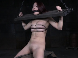 Redhead asian dutiful punished increased by whipped