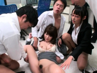 XXX date spitfire Yui Hatano pussy pounded wide of co assistants