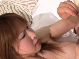 Japanese ladyboy drilled inspect sucking