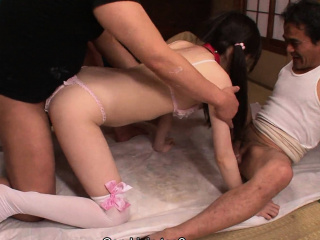 Japanese pamper Ai Uehara gangbanged overwrought a fillet be advisable for deviants