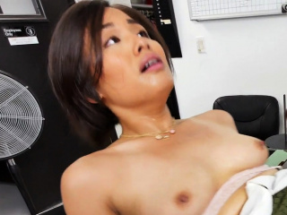 Lickerish amateurish jap explicit fucked far an obstacle aggravation