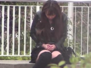 Asian babyhood spied open-air