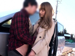 Busty nippon babe cocksucking in roleplay