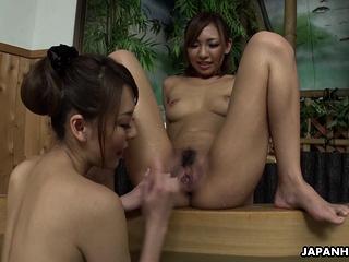 Japanese Akari Asayiri lesbian experience uncensored