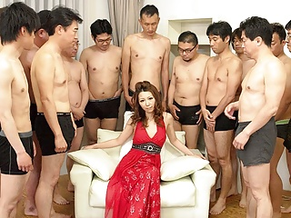 Japanese milf, Nagisa Kazami got gangbanged, uncensored