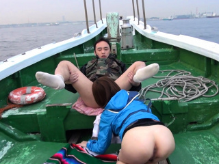Japanese Nonoka Kaede got fucked in the boat uncensored