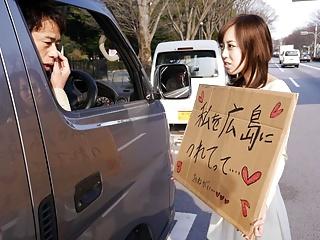 Japanese darling, Shiori Yamate sucks dick, uncensored