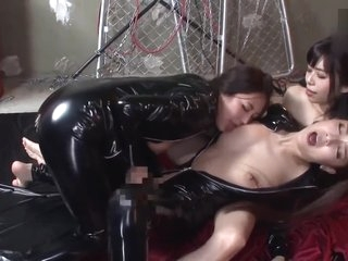 Japanese Lesbian tongue Kissing
