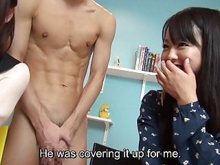 CFNM with real Japanese amateurs and a JAV star Subtitles