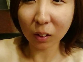 Naughty Japanese Mom shows her lovely pink pussy