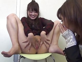 Japanese Girl Show Pussy to Her Friend