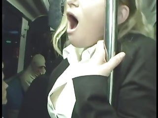 Office Lady Fingered To Orgasm On Bus