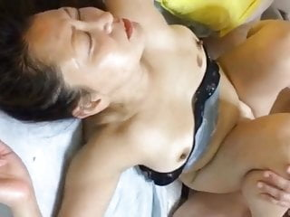 Japanese MILF in a gangbang 3