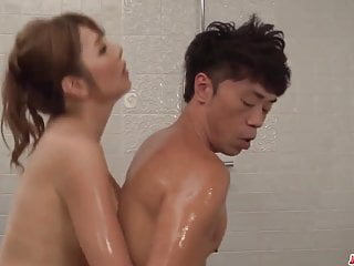 Oiled massage and erotic cock ride - More at Japanesemamas.com