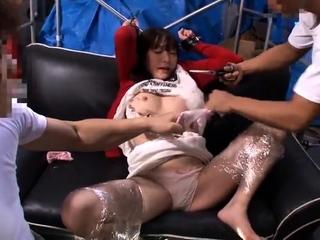 Japanese school girls group sex