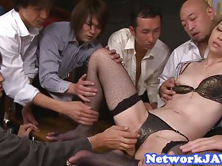 Asian milf facialized with the addition of creampied