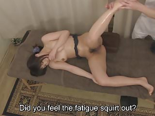Subtitled Japanese health centre rub-down voiced intercourse funding there HD