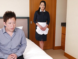 Japanese maid, Rei Kitajima is having it away a sex-mad client, uncen